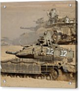 A Pair Of Israel Defense Force Merkava Acrylic Print