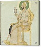 A Portrait Of Muhammad Shah Acrylic Print
