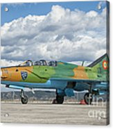 A Romanian Air Force Mig-21b Airplane Acrylic Print
