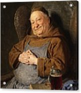 A Seated Monk With A Tankard Acrylic Print