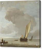 A Small Dutch Vessel Before A Light Breeze Acrylic Print