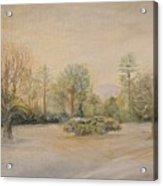 A Snowy Morn At Dalhebity Acrylic Print