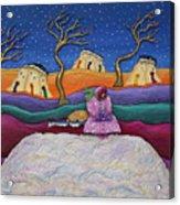 A Snowy Night Acrylic Print by Anne Klar