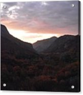 A Sunset View Through A Valley In The Southwest Foothills Of The Sierra Nevadas Acrylic Print