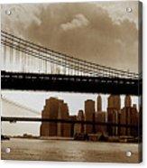 A Tale Of Two Bridges Acrylic Print by Joann Vitali