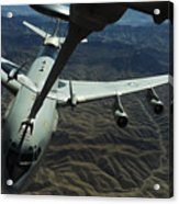 A U.s. Air Force E-3 Sentry Aircraft Acrylic Print by Stocktrek Images