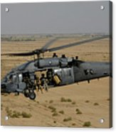 A U.s. Air Force Hh-60 Pavehawk Flies Acrylic Print