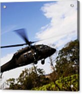 A U.s. Army Uh-60 Black Hawk Helicopter Acrylic Print