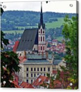 A View Of Cesky Krumlov In The Czech Republic Acrylic Print