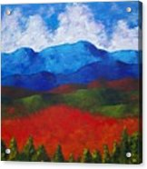 A View Of The Blue Mountains Of The Adirondacks Acrylic Print