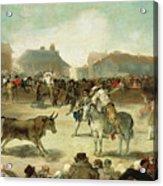 A Village Bullfight Acrylic Print