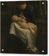 A Young Woman Nursing A Baby Acrylic Print