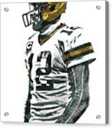 Aaron Rodgers Green Bay Packers Pixel Art 5 Acrylic Print