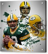 Aaron Rodgers Packers Acrylic Print