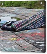 Abandoned Couch On The Graffiti Highway Acrylic Print