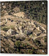 Abandoned Village Of Occi And The Coast Of Corsica Acrylic Print