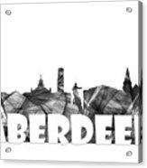 Aberdeen Scotland Skyline Acrylic Print