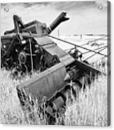 Abondoned Combine In Tall Grass Acrylic Print