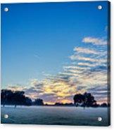 Abstract Early Morning Sunrise Over Farm Land Acrylic Print