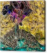 Abstract Flowers Acrylic Print