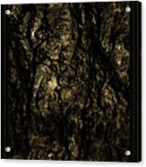 Abstract Gold And Black Texture Acrylic Print