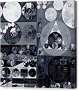 Abstract Painting - Light Gray Acrylic Print