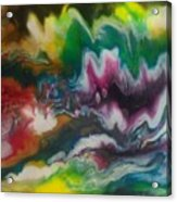 Abstract Resin Pour Acrylic Print