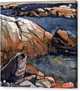 Acadia Rocks Acrylic Print
