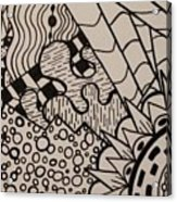 Aceo Zentangle Abstract Design Acrylic Print