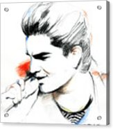 Adam Lambert Acrylic Print by Lin Petershagen