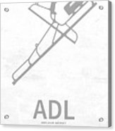 Adl Adelaide Airport In Adelaide Australia Runway Silhouette Acrylic Print