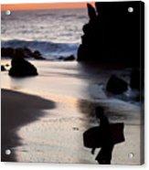 Adraga Beach In Sintra Natural Park Acrylic Print