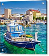 Adriatic Town Of Razanac Colorful Waterfront Acrylic Print