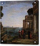 Aeneas Farewell To Dido In Carthago  Acrylic Print