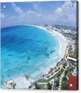 Aerial Of Cancun Acrylic Print