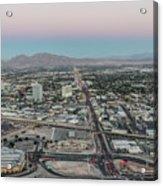 Aerial View Of Las Vegas City Acrylic Print