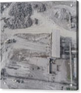 Aerial View Of Open Pit Sand Quarries.  View From Above.  Acrylic Print