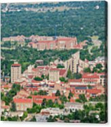 Aerial View Of The Beautiful University Of Colorado Boulder Acrylic Print