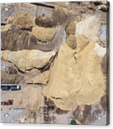 Aerial View Over The Sandpit. Industrial Place In Poland. Acrylic Print