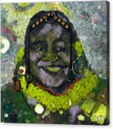 African Bead Painting Acrylic Print