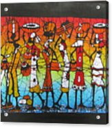 African Woman Carrying On Head Acrylic Print
