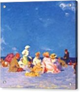 afternoon fun Edward Henry Potthast Acrylic Print