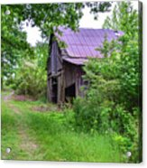 Aging Barn In Woods Series Acrylic Print