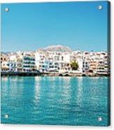 Agios Nikolaos Panorama Acrylic Print