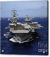 Aircraft Carrier Uss Ronald Reagan Acrylic Print