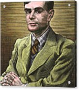Alan Turing, British Mathematician Acrylic Print by Bill Sanderson