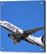 Alaska Airlines 737-800 Acrylic Print
