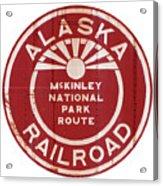 Alaska Railroad Aged Acrylic Print