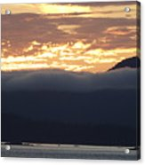 Alaskan Coast Sunset, View Towards Kosciusko Or Prince Of Wales  Acrylic Print