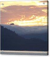 Alaskan Coast, View Towards Kosciusko Or Prince Of Wales Islands Acrylic Print